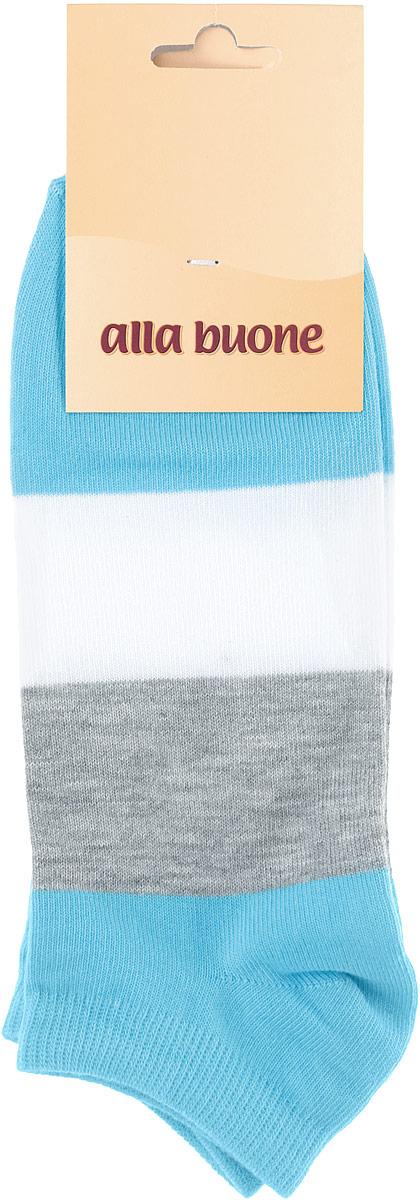 Носки женские Alla Buone, цвет: голубой, серый, белый. CD033. Размер 23 (35-37)033CDУдобные носки Alla Buone, изготовленные из высококачественного комбинированного материала, очень мягкие и приятные на ощупь, позволяют коже дышать. Эластичная резинка плотно облегает ногу, не сдавливая ее, обеспечивая комфорт и удобство. Носки с укороченным паголенком оформлены широкими контрастными полосками. Практичные и комфортные носки великолепно подойдут к любой вашей обуви.