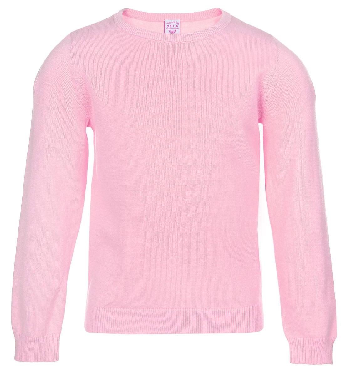 Джемпер для девочки Sela, цвет: розовый. JR-514/064-6352. Размер 98, 3 годаJR-514/064-6352Прелестный джемпер Sela, изготовленный из натурального хлопка, станет отличным дополнением к гардеробу вашей девочки. Материал изделия мягкий и приятный на ощупь, не сковывает движения и позволяет коже дышать, не раздражает даже самую нежную и чувствительную кожу ребенка, обеспечивая наибольший комфорт.Модель с круглым вырезом горловины и длинными рукавами придется по душе ваше дочурке. Горловина, манжеты рукавов и низ джемпера связаны резинкой. Современный дизайн и яркая расцветка делают этот джемпер стильным предметом детского гардероба. В нем ваша девочка будет чувствовать себя уютно и комфортно, и всегда будет в центре внимания!