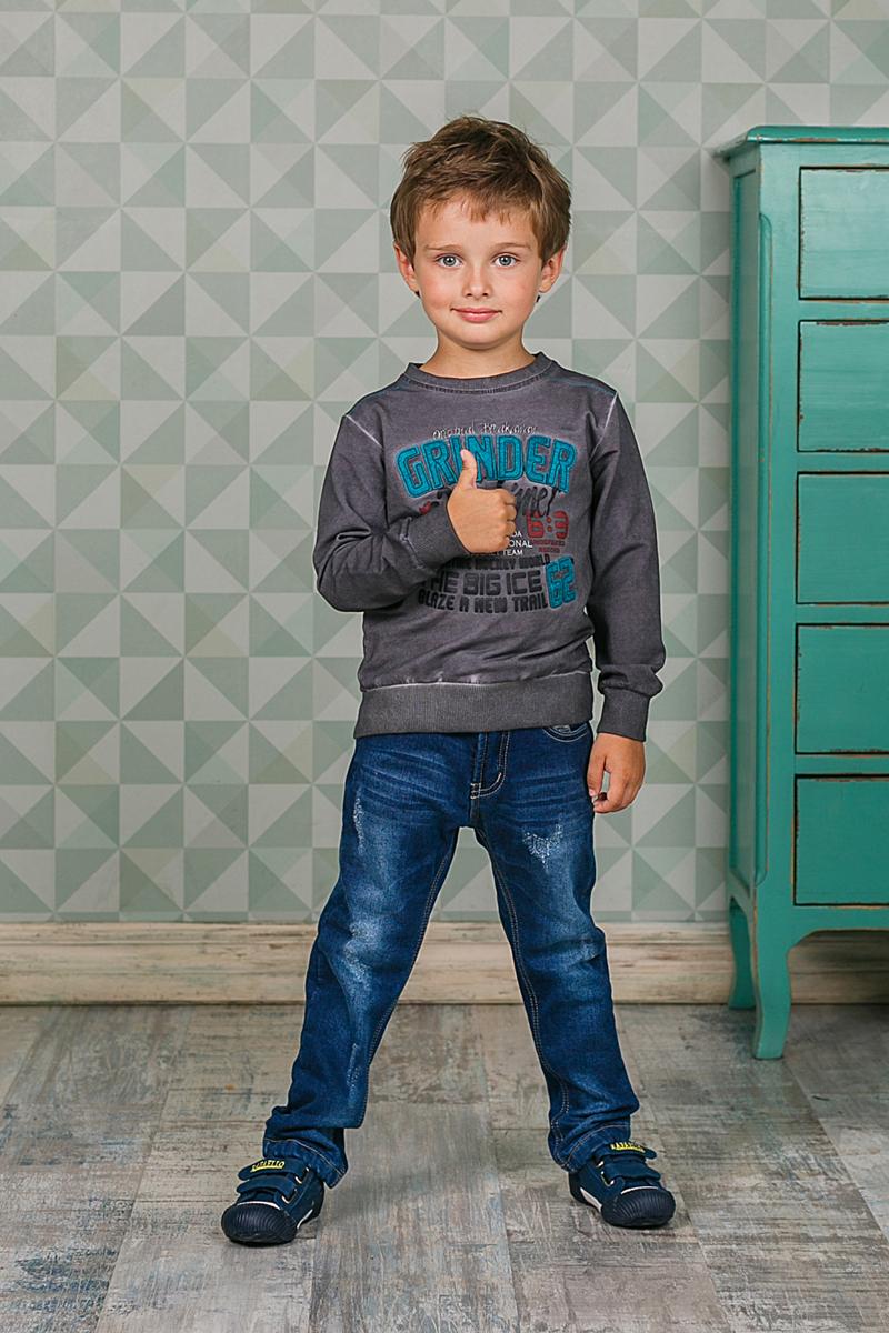 Толстовка206311Стильная толстовка Sweet Berry для мальчика выполнена из мягкого трикотажного материала. Воротник, манжеты рукавов и низ изделия выполнены из трикотажной резинки. Модель оформлена принтом и вышивкой.