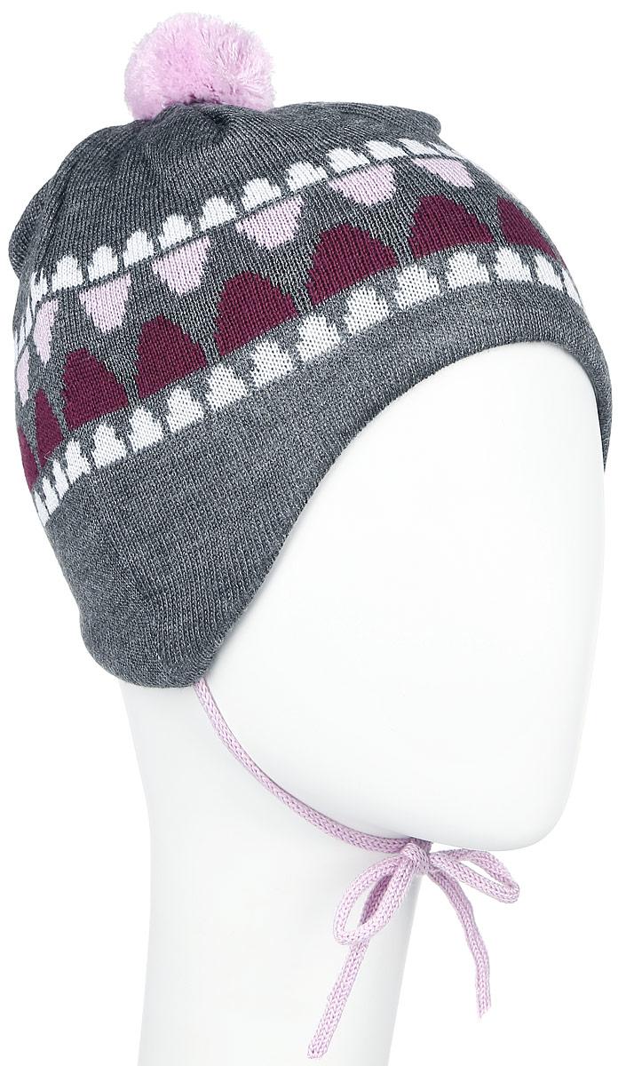 Шапка детская518378_2320Очаровательная шапка Reima Unonen идеально подойдет для прогулок. Изготовленная из шерсти и акрила, она обладает хорошими дышащими свойствами и хорошо удерживает тепло. Шапка на макушке декорирована помпоном, а также дополнена завязками. Ветронепроницаемые вставки в области ушей защищают от холодного ветра, а мягкая подкладка из флиса приятна чувствительной детской коже. Сбоку модель дополнена нашивкой с логотипом бренда. Такая шапка станет модным и стильным предметом детского гардероба. Она улучшит настроение даже в хмурые холодные дни! Уважаемые клиенты! Размер, доступный для заказа, является обхватом головы ребенка.
