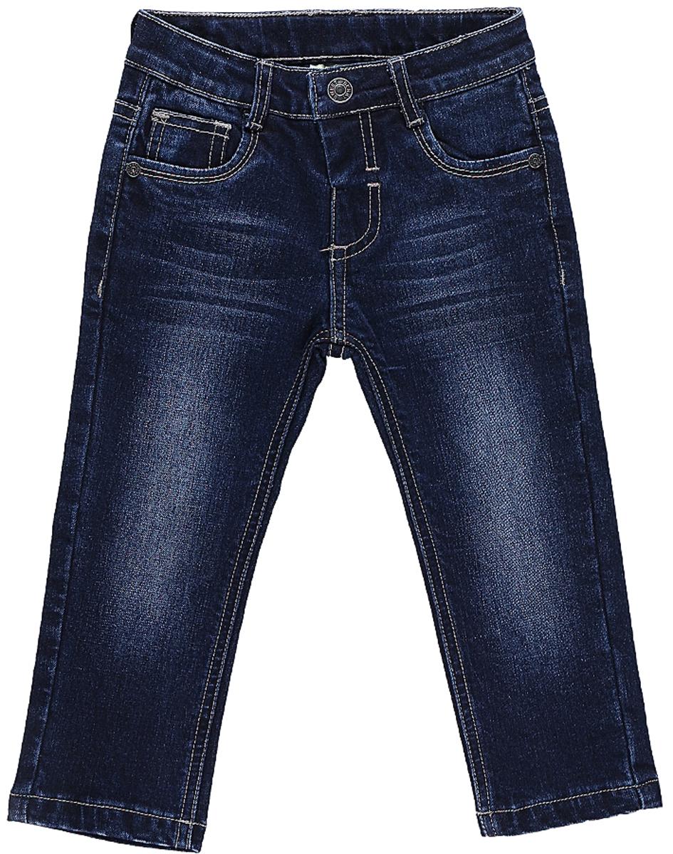Джинсы206112Утепленные джинсы Sweet Berry для мальчика с эффектом потертости выполнены из высококачественного материала. Джинсы прямого кроя и стандартной посадки на талии застегиваются на пуговицу и имеют ширинку на застежке-молнии. На поясе имеются шлевки для ремня. Модель представляет собой классическую пятикарманку: два втачных и один маленький накладной кармашек спереди и два накладных кармана сзади.