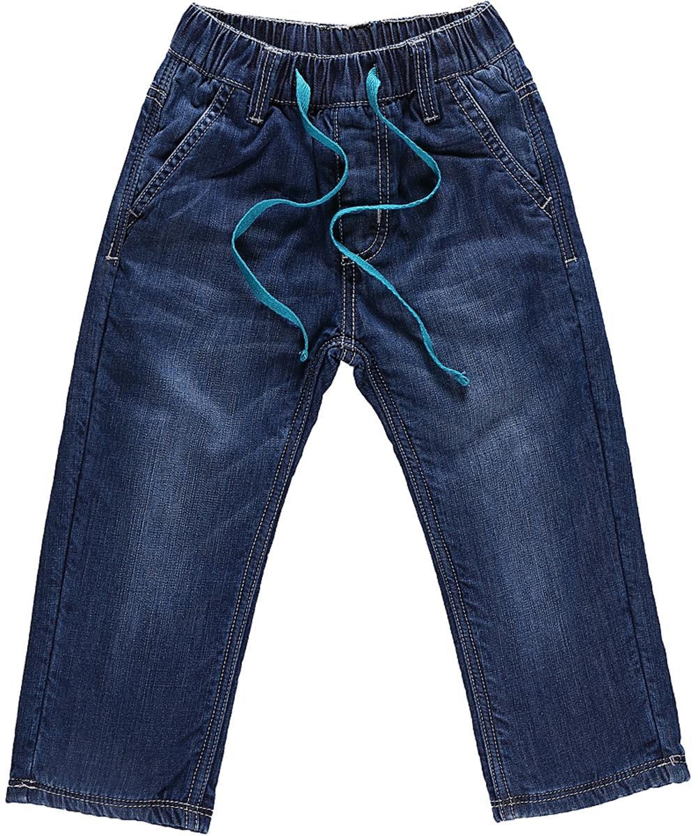 Джинсы206128Утепленные джинсы Sweet Berry для мальчика с эффектом потертости выполнены из высококачественного материала. Джинсы прямого кроя и стандартной посадки на талии дополнены эластичной резинкой и кулиской. На поясе имеются шлевки для ремня. Модель оформлена спереди двумя карманами с косыми срезами, а сзади двумя накладными карманами.
