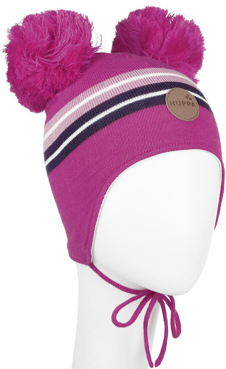 Шапка детская80350000-60020Вязанная шапка для девочки Huppa Minny станет отличным дополнением к детскому гардеробу. Верх изделия изготовлен из акрила с добавлением шерсти, а подкладка из качественного хлопка, что обеспечивает тепло и комфорт. Благодаря эластичной вязке, шапка идеально прилегает к голове ребенка. Шапка оформлена контрастными полосками и на макушке декорирована двумя пушистыми помпонами. Изделие завязывается на шнурочки, тем самым обеспечивает тепло в холодную погоду и защищает детские ушки от холода. Дополнена шапочка нашивкой с названием бренда. Оригинальный дизайн и расцветка делают эту шапку стильным предметом детского гардероба. В ней ребенку будет тепло, уютно и комфортно. Уважаемые клиенты! Размер, доступный для заказа, является обхватом головы.