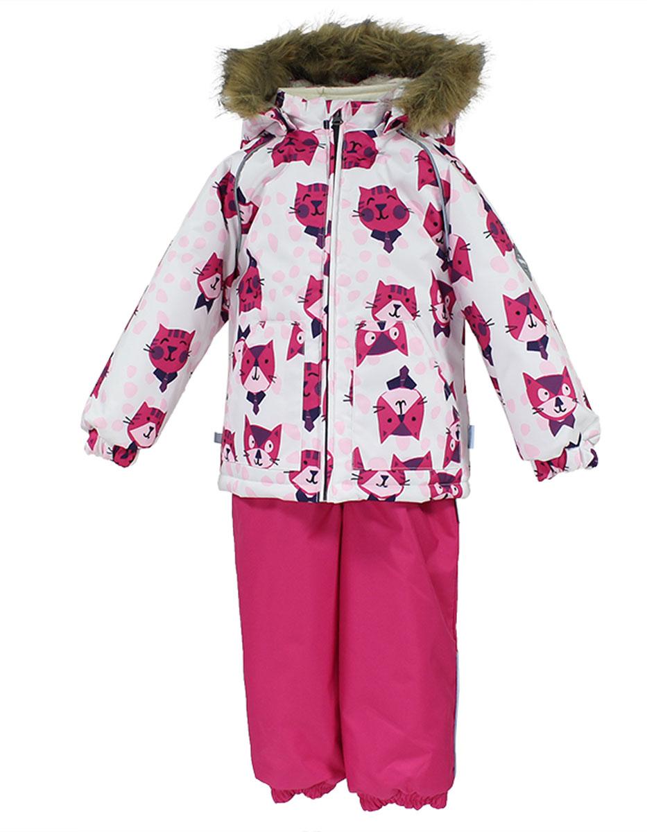Комплект верхней одежды41780030_63220Теплый комплект одежды Huppa Avery, состоящий из куртки и полукомбинезона, идеально подойдет для малыша в холодное время года. Комплект изготовлен из водоотталкивающей и ветрозащитной ткани. Ткань с обратной стороны покрыта слоем полиуретана с микропорами, который препятствует прохождению воды и ветра, но в то же время позволяет испаряться влаге, выделяемой телом. Материал имеет высокие показатели износостойкости. Сплетения волокон в тканях выполнены по специальной технологии, которая придает ткани прочность и предохраняет от истирания. В качестве наполнителя используется HuppaTerm - высокотехнологичный легкий синтетический утеплитель нового поколения. Уникальная структура микроволокон не позволяет проникнуть внутрь холодному воздуху, в то же время удерживая теплый между волокнами, обеспечивая высокую теплоизоляцию. Подкладка выполнена из мягкой и приятной на ощупь фланелевой ткани. Основные швы проклеены водостойкой лентой. Изделие легко стирается и быстро сохнет. ...