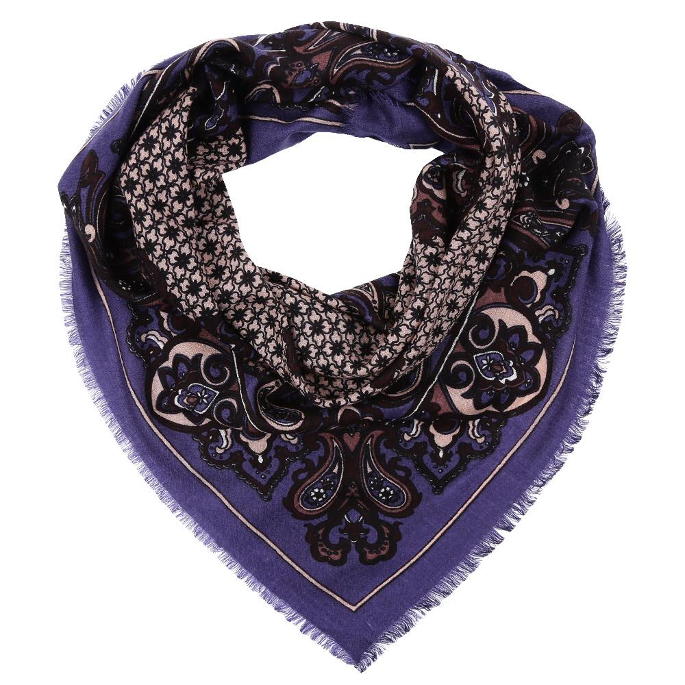 Платок Fabretti, цвет: бежевый, сиреневый. YNNT1518. Размер 91 см х 91 смYNNT1518-4Стильный платок станет прекрасным дополнением к вашему образу. Выполнен из высококачественного материала и оформлен оригинальным принтом.