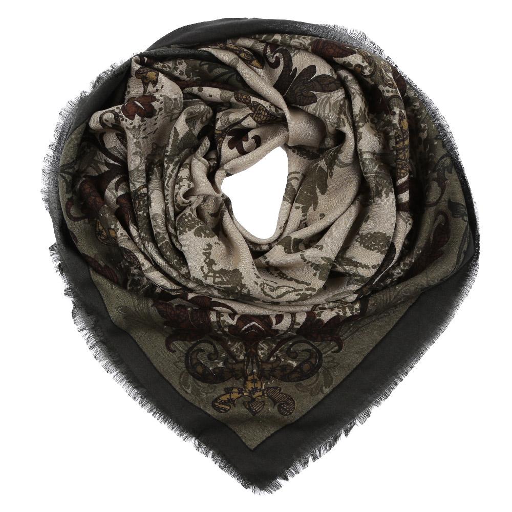 Платок Leo Ventoni, цвет: бежевый, коричневый. YNNT1516. Размер 111 см х 111 смYNNT1516-10Стильный платок станет прекрасным дополнением к вашему образу. Выполнен из высококачественного материала и оформлен оригинальным принтом.