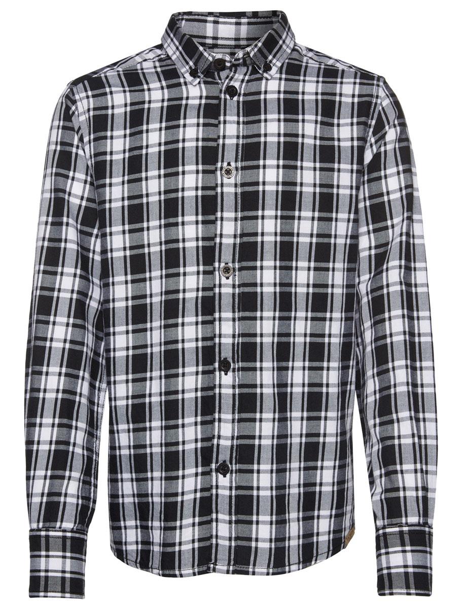 Рубашка для мальчика Tom Tailor, цвет: черный, белый. 2032246.00.30_2999. Размер 1402032246.00.30_2999Стильная рубашка Tom Tailor станет отличным дополнением к гардеробу вашего мальчика. Модель, выполненная из натурального хлопка, необычайно мягкая и приятная на ощупь, не сковывает движения и позволяет коже дышать, не раздражает даже самую нежную и чувствительную кожу ребенка, обеспечивая наибольший комфорт. Рубашка классического кроя с длинными рукавами и отложным воротником застегивается на пуговицы по всей длине и оформлена принтом в клетку. На манжетах предусмотрены застежки-пуговицы. Воротник пристегивается к рубашке с помощью пуговиц. Оригинальный современный дизайн и актуальная расцветка делают эту рубашку модным и стильным предметом детского гардероба.