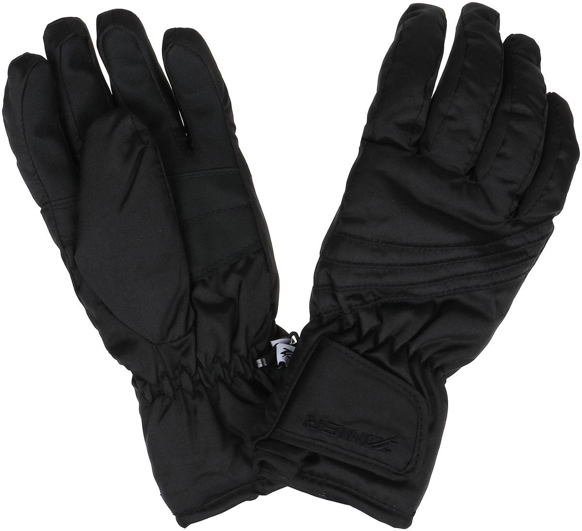 Перчатки горнолыжные женские ZANIER CHANGE DA, цвет: черный. 27010_20. Размер L27010_20Горнолыжные женские перчатки CHANGE DAПерчатки предназначены для занятий активными видами спорта и для носки в городе в холодную погоду. - Самые коммерческие перчатки- Абсолютный хит продаж на протяжении многих лет - Анатомический крой- Усиление большого пальца- Резинка по запястью- Регулировка по манжету на липучке - Мембрана обеспечивает защиту от намокания, отведение влаги и сохраняет руки сухими и теплыми во время занятий спортом Австрийская компания ZANIER производит аксессуары для активных видов спорта более 30 лет и на сегодняшний день является лидером продаж на Австрийском рынке и входит в четверку сильнейших производителей Европы. Перчатки ZANIER надежны, разработаны и протестированы в горах профессиональными спортсменами. Компания является официальным поставщиком сборной команды Австрии по сноуборду.