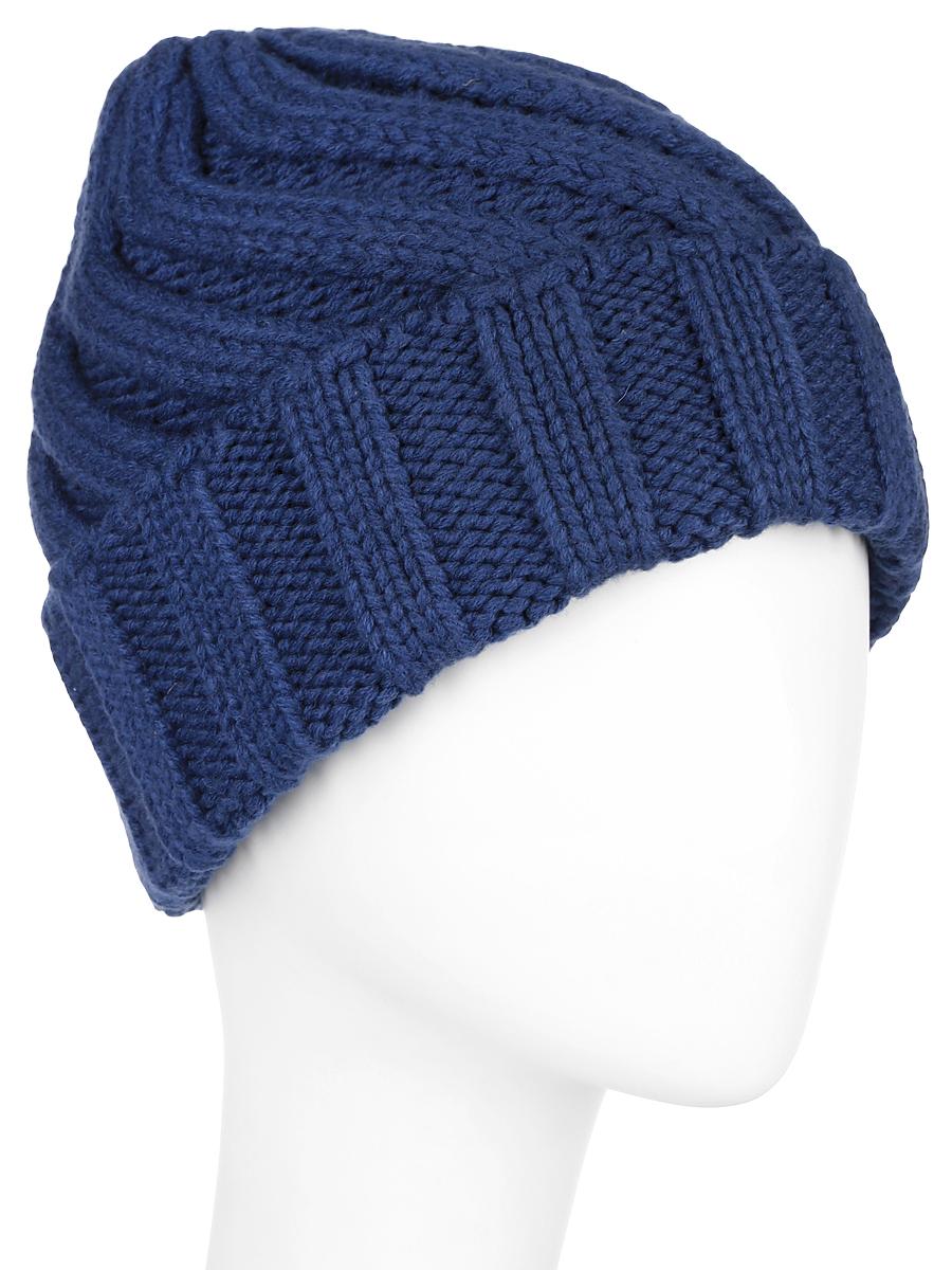ШапкаA16-171510_711Вязаная женская шапка Finn Flare с отворотом отлично подойдет для модниц в холодное время года. Она мягкая и приятная на ощупь, обладает хорошими дышащими свойствами и максимально удерживает тепло. Изделие оформлено крупным вязаным узором, а также дополнено небольшой металлической пластиной с названием бренда. Такой стильный и теплый аксессуар подчеркнет ваш образ и индивидуальность. Уважаемые клиенты! Размер, доступный для заказа, является обхватом головы.