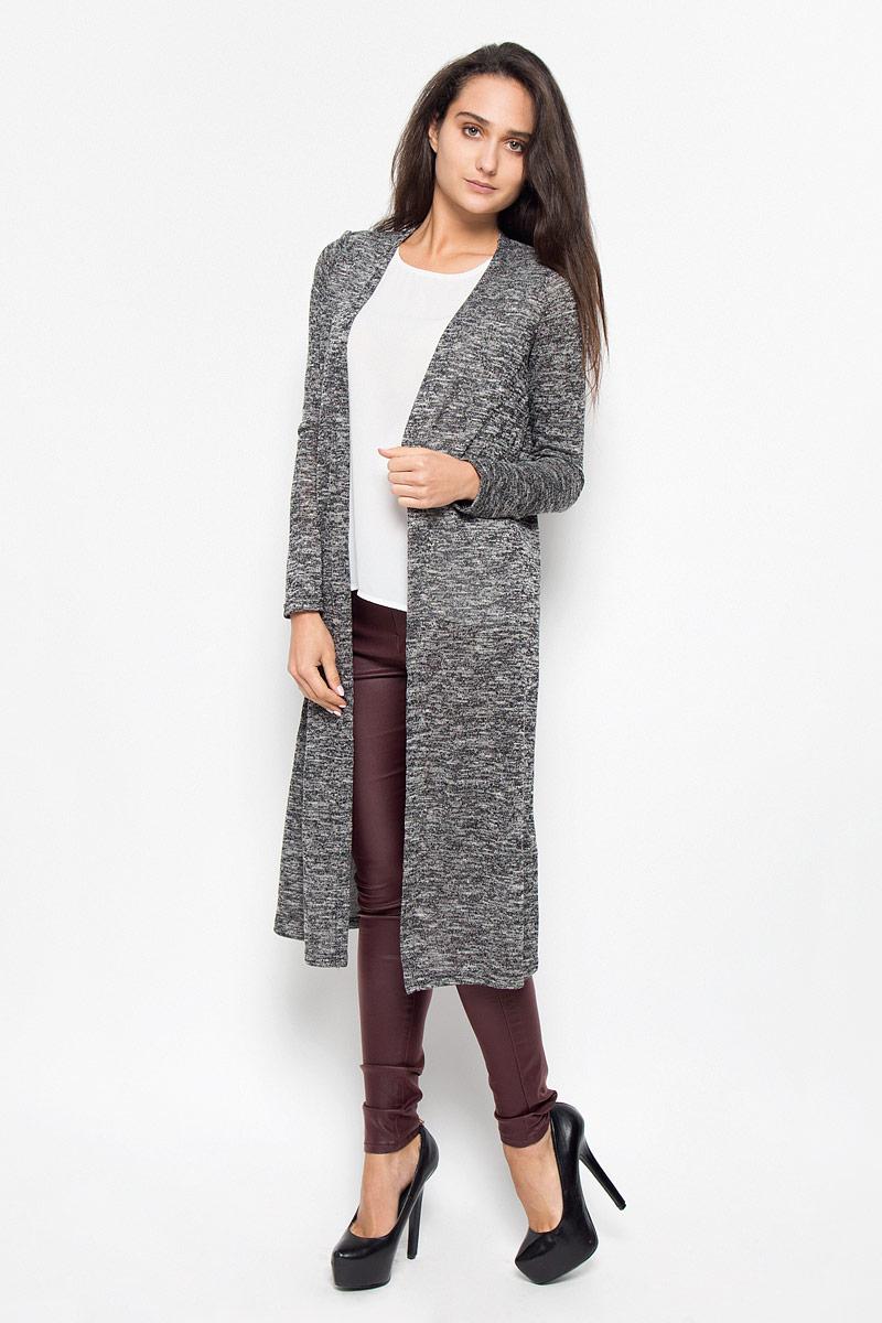 Кардиган10159463_BlackКлассический женский кардиган Vero Moda будет гармонично смотреться в сочетании, как с джинсами, брюками, так и с юбками. Выполнен кардиган из высококачественной пряжи, мягкий и приятный на ощупь. В нем вы будете чувствовать себя уютно в прохладное время года.