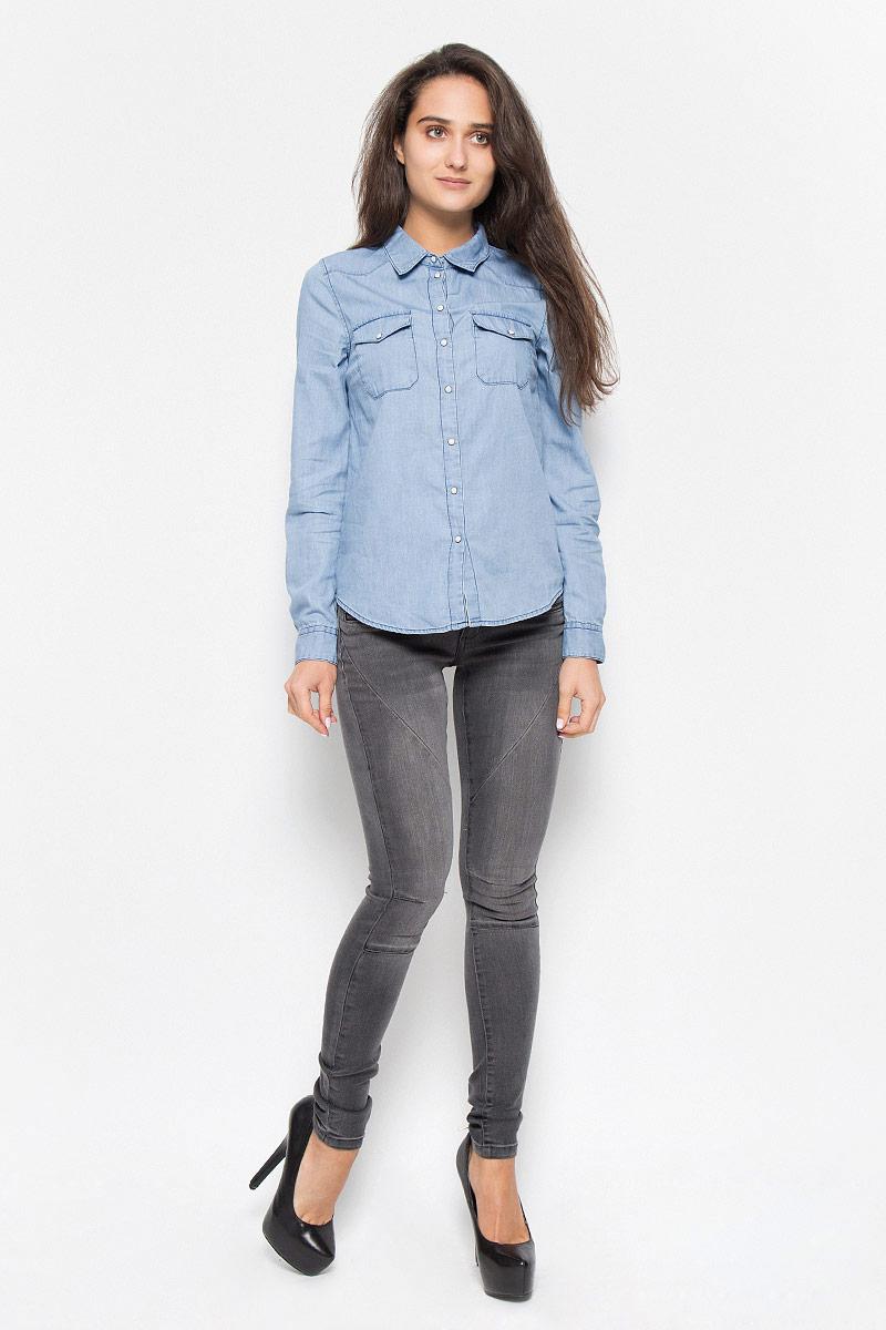 Рубашка Vero Moda 10161258_Light Blue Denim