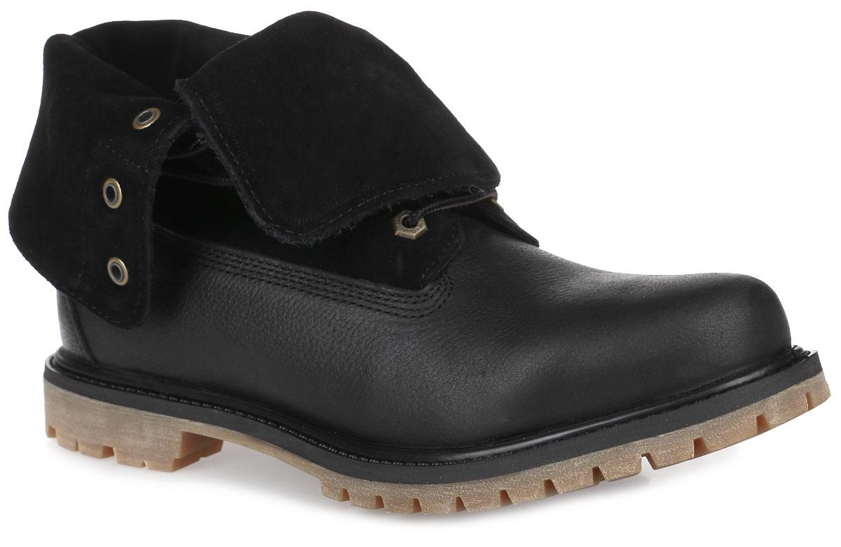БотинкиTBLA18PQWСтильные мужские ботинки Suede Roll-Top от Timberland заинтересуют вас своим дизайном с первого взгляда! Модель изготовлена из натуральной зернистой кожи со вставками из текстиля, боковая сторона и язычок декорированы тиснением в виде логотипа бренда. Классическая шнуровка прочно зафиксирует модель на вашей ноге. Подкладка из текстиля дополнена нубуковой вставкой на заднике. Подошва с технологией Anti-Fatigue создана для тех, кто проводит весь день на ногах. Anti-Fatigue - уникальная литая полиуретановая стелька с инновационной структурой в виде геометрических перевернутых конусов, которые сжимаются при ходьбе и увеличивают энергию, сокращая усталость ног. Ультрамодные ботинки не оставят вас незамеченным!