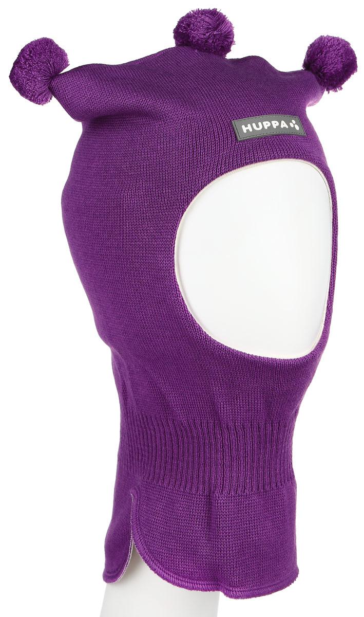 Шапка-шлем для девочки Huppa COCO, цвет: фиолетовый. 85070000-60073. Размер 47/4985070000-60073Теплая шапка-шлем Huppa Coco выполнена из мериносовой шерсти с добавлением акрила, подкладка выполнена из натурального хлопка. Изделие оснащено мембраной для защиты ушей от холода. Модель декорирована тремя небольшими помпонами. Шейная часть изделия связана резинкой. Уважаемые клиенты! Обращаем ваше внимание на тот факт, что размер, доступный для заказа, является обхватом головы.