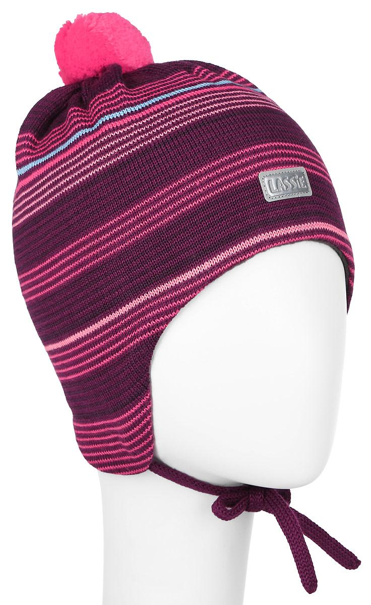 Шапка детская718692-3380Комфортная детская шапка Reima Lassie идеально подойдет для прогулок в холодное время года. Вязаная шапка с ветрозащитными вставками в области ушей, выполненная из шерсти и акрила, максимально сохраняет тепло, она мягкая и идеально прилегает к голове. Мягкая подкладка выполнена из хлопка с добавлением эластана, поэтому шапка хорошо сохраняет тепло и обладает отличной гигроскопичностью (не впитывает влагу, но проводит ее). Шапка завязывается на завязки под подбородком и оформлена принтом в полоску. Модель дополнена ярким помпоном и небольшой светоотражающей нашивкой с названием бренда. В ней ваш ребенок будет чувствовать себя уютно и комфортно. Уважаемые клиенты! Размер, доступный для заказа, является обхватом головы.