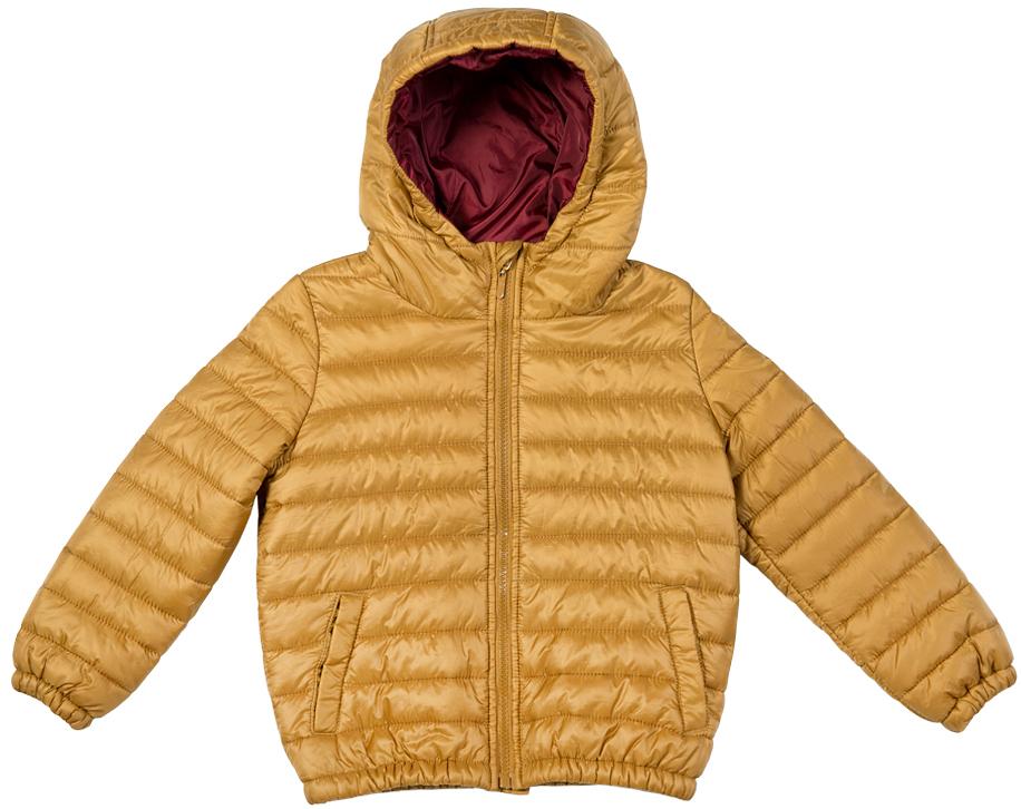 Куртка для мальчика Button Blue, цвет: горчичный. 216BBBC41010400. Размер 158, 13 лет216BBBC41010400Легкая стеганая куртка с капюшоном - залог хорошего настроения в холодный осенний день! Модель на синтепоне, дарит ребенку тепло, комфорт и свободу движений. Модная форма, динамичная горизонтальная стежка, контрастная подкладка обеспечивают куртке прекрасный внешний вид! Тонкий мешок-чехол для компактного хранения курки - приятное функциональное дополнение к основной покупке!