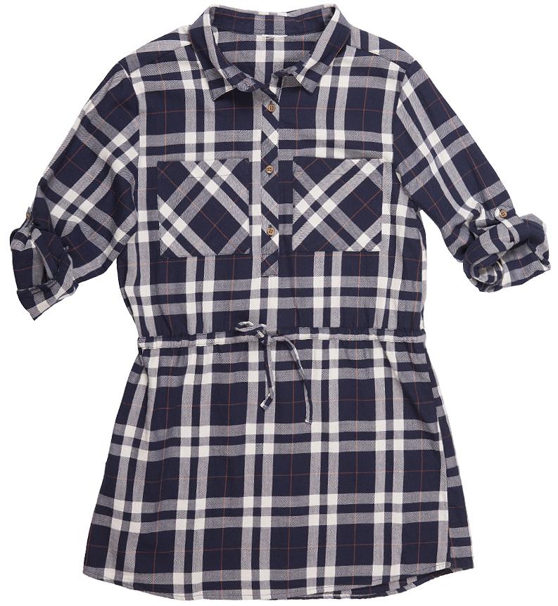 Платье216BBGC25011402Платье для девочки модной свободной формы, крупные накладные карманы, утяжка по линии талии делают модель ярким акцентом повседневного образа. С брюками, лосинами, плотными колготками платье составит прекрасный комплект на каждый день. Стильное клетчатое платье - идеальный вариант для тех, кто идет в ногу со временем, предпочитая навязчивому гламуру легкость и комфорт стиля casual.