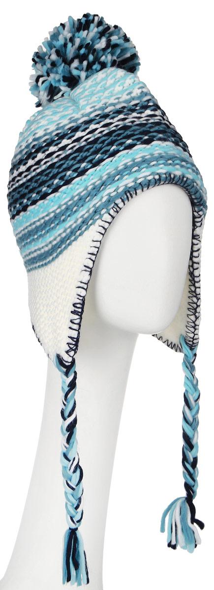 Шапка детская364148Комфортная детская шапка Scool идеально подойдет для прогулок в холодное время года, защищая ушки ребенка от ветра. Шапочка выполненная из акрила, максимально сохраняет тепло, она мягкая и идеально прилегает к голове. Мягкая подкладка выполнена из флиса, поэтому шапка хорошо сохраняет тепло и обладает отличной гигроскопичностью (не впитывает влагу, но проводит ее). Шапка на макушке декорирована забавным помпоном, а на ушках дополнена плетеными завязками с кисточками, которые фиксируются под подбородком. Оригинальный дизайн и яркая расцветка делают эту шапку модным и стильным предметом детского гардероба. В ней ваш ребенок будет чувствовать себя уютно и комфортно и всегда будет в центре внимания! Уважаемые клиенты! Размер, доступный для заказа, является обхватом головы ребенка.