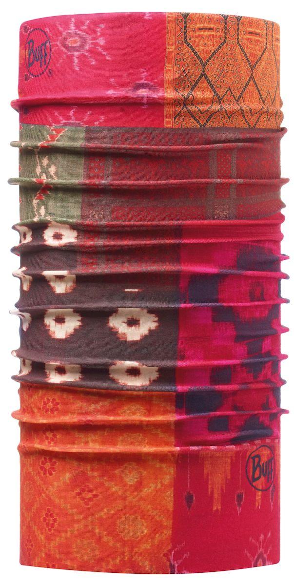 Бандана108851.00Бесшовный многофункциональный аксессуар из серии Original Buff. Легко превращается из банданы в повязку на голову, шарф, шапку, маску, подшлемник и даже напульсник. Подходит для любой погоды. Один размер подходит большинству взрослых и подростков. Допускается машинная стирка.