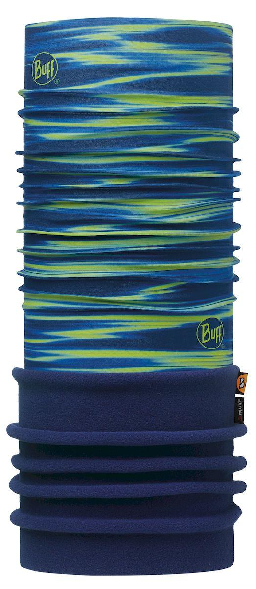 Бандана Buff Polar Kenney Green Navy-Green-Standard, цвет: синий. 113109.845.10.00. Размер 53/62 см113109.845.10.00Теплая бандана-шарф из серии Polar Buff. Polar Buff - это бандана-труба из серии Original Buff, пришитая к цилиндру из Polartec Classic Fleece 100. В холодную погоду Polar Buff поддерживает нормальную температуру тела и предотвращает потерю тепла, благодаря комбинации микрофибры и Polartec. Благодаря своей универсальности, функциональности и практичности Polar Buff завоевал огромную популярность среди людей, ее можно использовать как шапку, шарф, бандану на лицо и уши, балаклаву, маску. Неотъемлемая часть зимней одежды, подходит для любой активности в холодное время года.