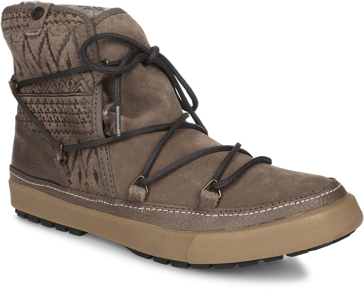 БотинкиARJB300007-TANСтильные женские ботинки Whistler от Roxy заинтересуют вас своим дизайном с первого взгляда! Модель выполнена из натуральной кожи. Подкладка и стелька из искусственного меха не дадут ногам замерзнуть. Оригинальная шнуровка надежно зафиксирует модель на ноге. Подошва с рифлением обеспечивает отличное сцепление с любой поверхностью.