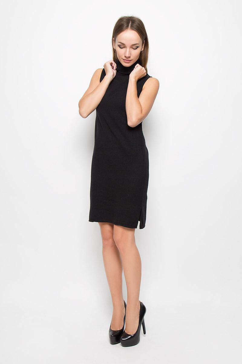 Платье10158_999Стильное платье Broadway Ninette, выполненное из высококачественного материала, идеально подойдет для модниц. Материал изделия мягкий и тактильно приятный, не стесняет движений и обеспечивает комфорт при носке. Платье с воротником-гольф имеет по бокам небольшие разрезы. Оригинальный дизайн и совершенство стиля подчеркнут вашу индивидуальность!