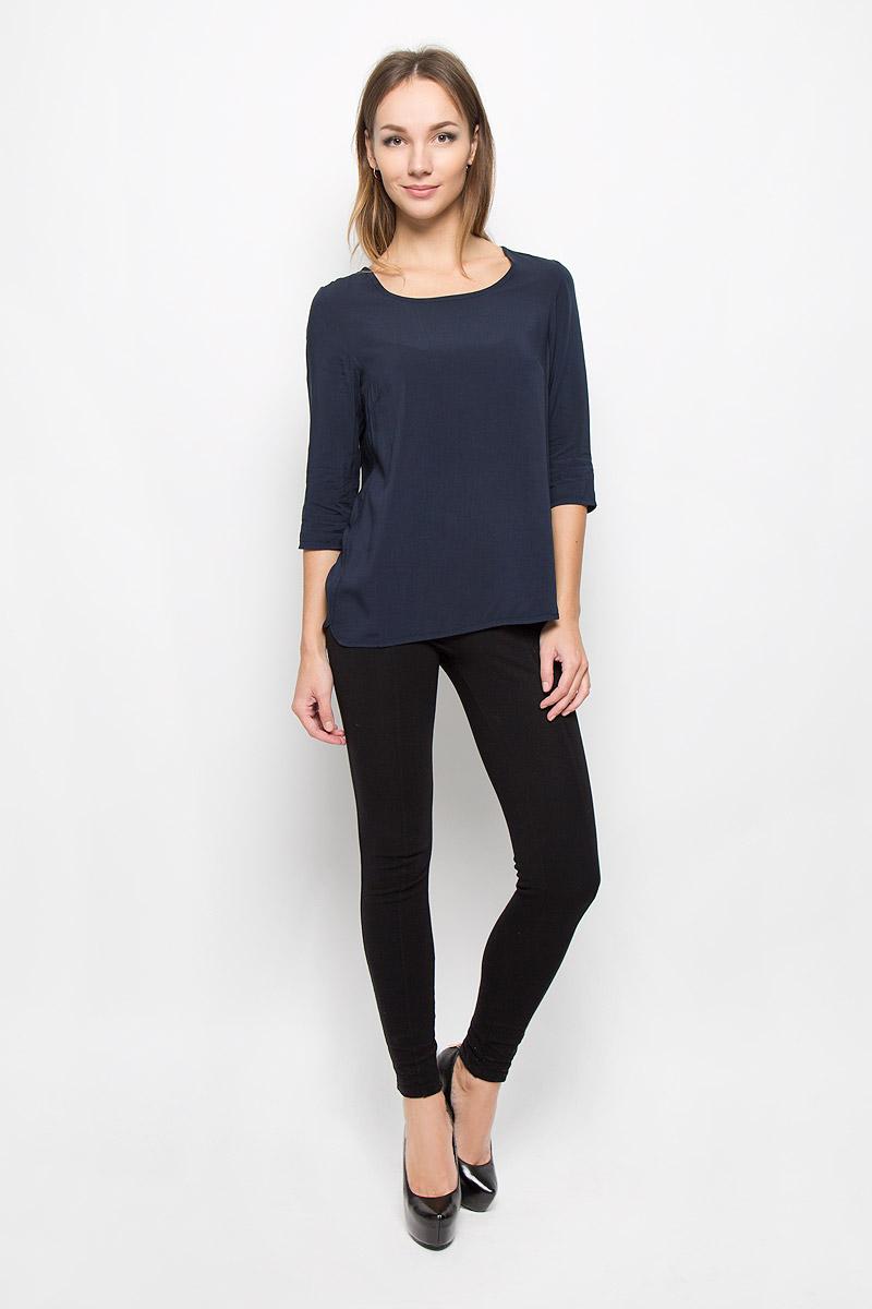 Блузка10156498_335Женская блузка Broadway Owens, выполненная из мягкой вискозы, поможет создать современный и стильный образ. Материал изделия тактильно приятный, не стесняет движений и хорошо пропускает воздух, обеспечивая комфорт. Блузка с круглым вырезом горловины и рукавами 3/4 имеет снизу закругленные края. Однотонная модель - базовый элемент одежды, необходимый для создания большинства повседневных образов. Лаконичный дизайн и совершенство стиля подчеркнут вашу индивидуальность.