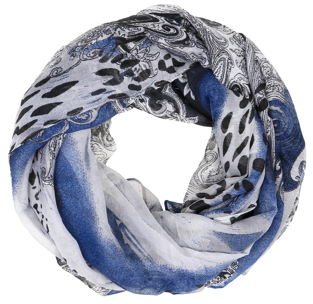 Палантин женский Fabretti, цвет: синий, черный, серый. TUTF165. Размер 90 см х 180 смTUTF165-5Элегантный палантин Fabretti, изготовленный из высококачественного материала, создан подчеркивать роскошную неоднозначность вашего образа. Палантин оформлен интересным принтом. Этот модный аксессуар женского гардероба гармонично дополнит образ современной женщины, следящей за своим имиджем и стремящейся всегда оставаться стильной и элегантной. В этом палантине вы всегда будете выглядеть женственной и привлекательной.