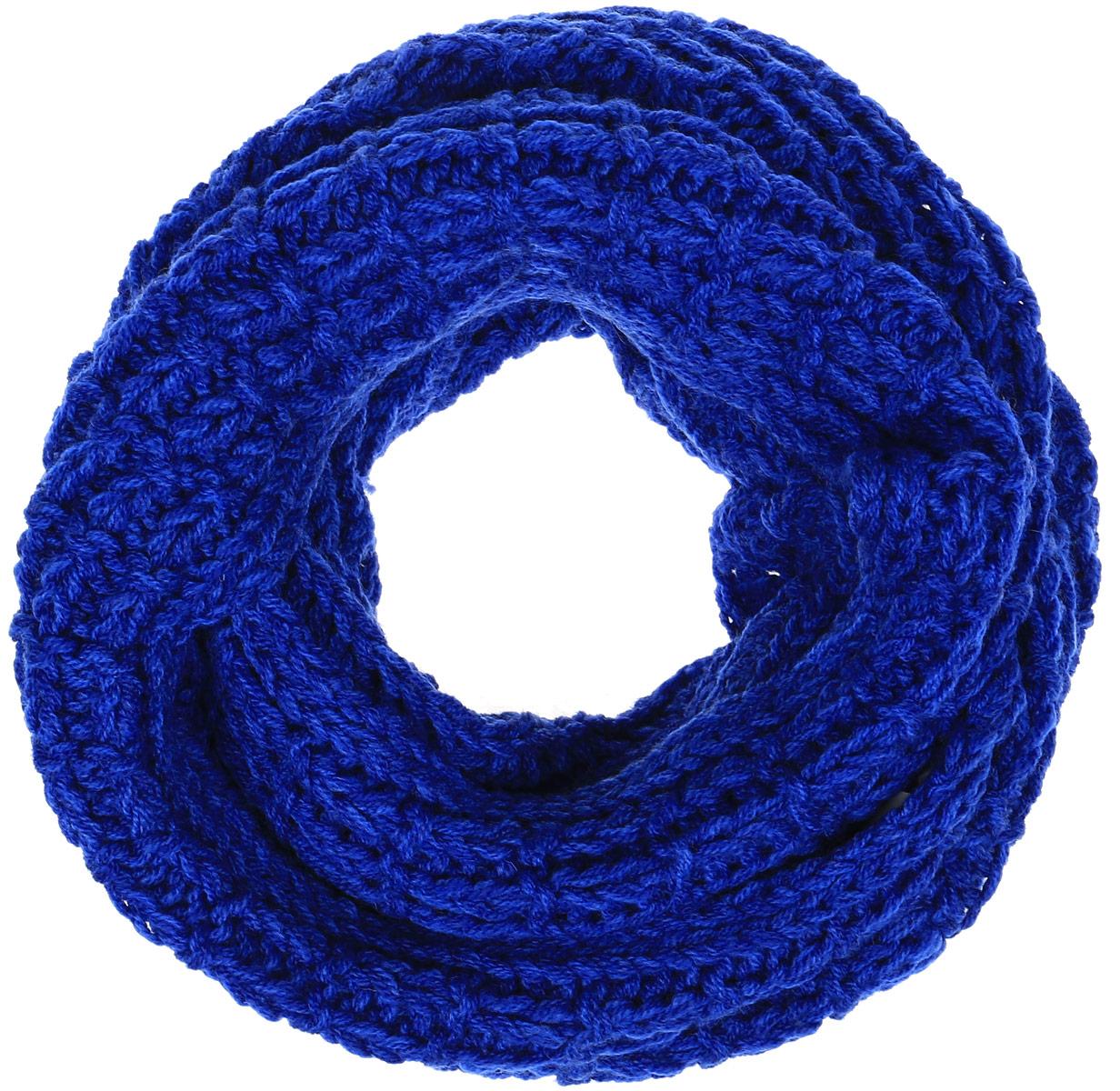 Снуд-хомутB330_MAJOLICA BLUEЖенский вязаный снуд-хомут Baon выполнен из высококачественной пряжи из шерсти и акрила. Модель связана кольцом и имеет крупную свободную вязку