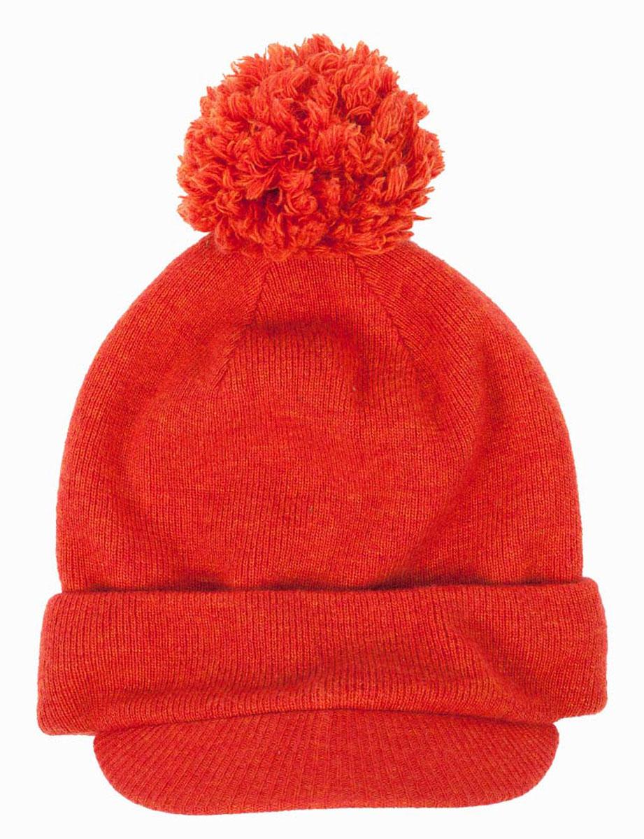 Шапка для мальчика Gulliver, цвет: оранжевый. 21604BMC7304. Размер 5021604BMC7304Детские шапки - необходимые аксессуары для морозной погоды! Их главное задача - защита от холода и ветра, но не менее важную роль шапки играют в формировании модного детского гардероба! Шапка для мальчика - функциональный аксессуар, способный сделать ярче и интереснее осенне-зимний ансамбль. Стильная шапка с козырьком и помпоном - идеальное завершение зимнего образа. Если вы решили купить классную оригинальную шапку, эта модель - прекрасный выбор!