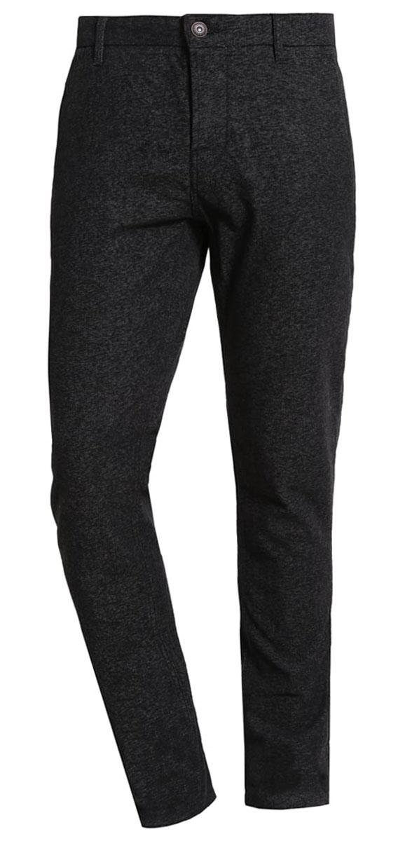 Брюки22004423_Dark Grey MelangeСтильные мужские брюки Only & Sons выполнены из хлопка с добавлением полиэстера и эластана. Модель застегивается на пуговицы, также имеются шлевки для ремня. Спереди изделие оформлено двумя втачными карманами, сзади - двумя прорезными карманами.