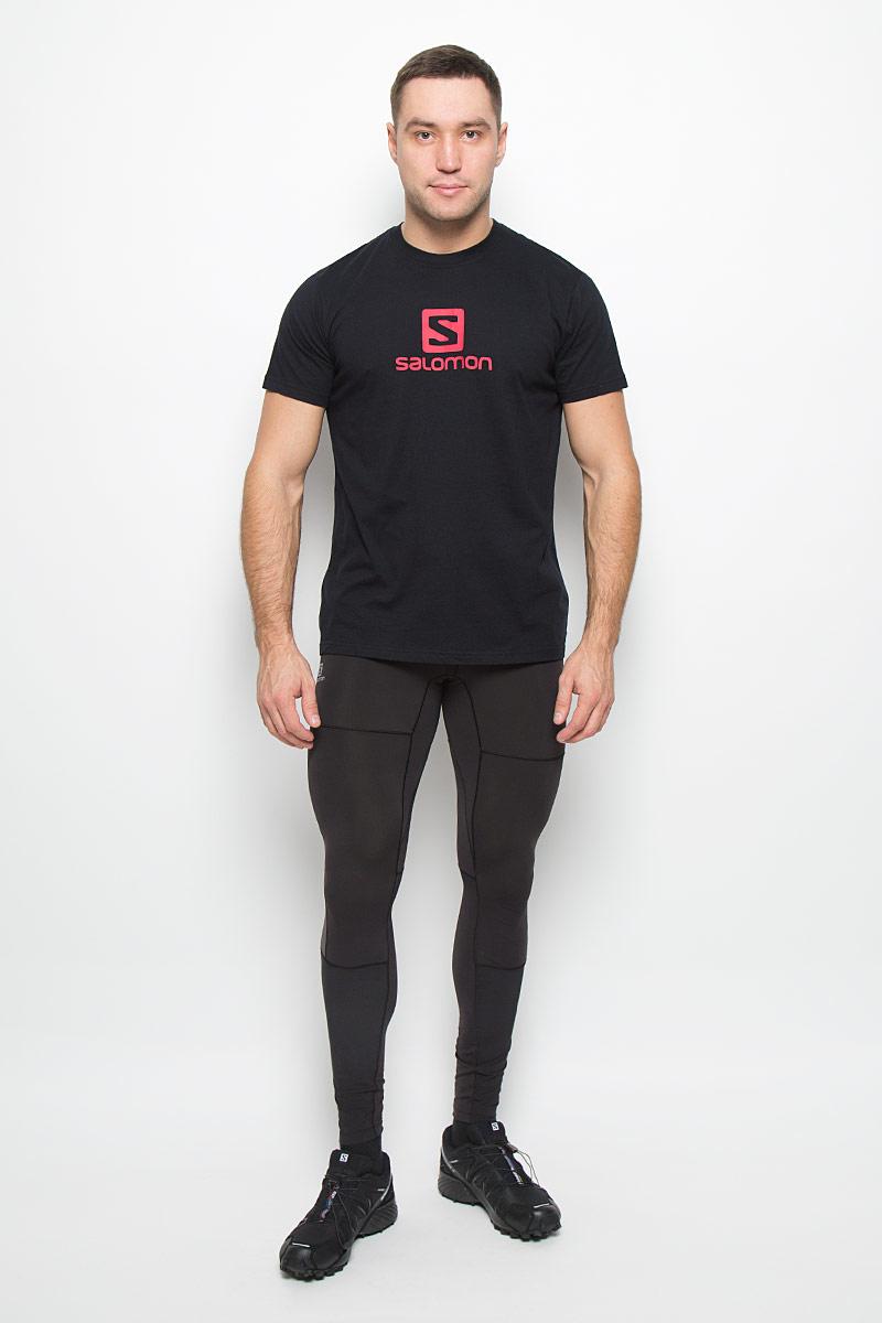 ФутболкаL38213800Мужская футболка Logo SS Cotton Tee от Salomon поможет создать отличный современный образ. Модель, изготовленная из натурального хлопка, очень мягкая, тактильно приятная, не сковывает движения и позволяет коже дышать. Футболка с круглым вырезом горловины и короткими рукавами оформлена спереди логотипом и названием бренда.
