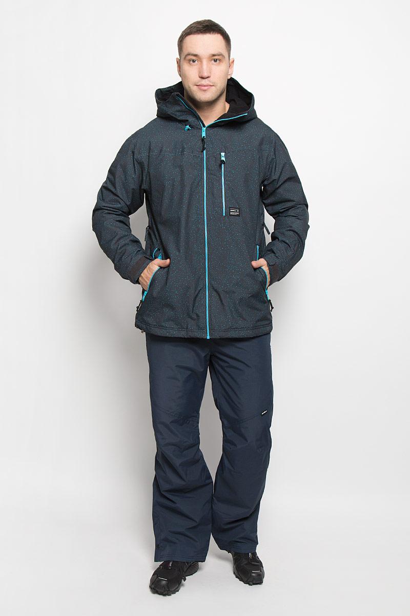Куртка650026-5950Мужская куртка для сноуборда ONeill Pm Sector выполнена из полиэстера с подкладкой из синтепона. Модель с длинными рукавами и несъемным капюшоном застегивается на застежку-молнию спереди. Изделие дополнено тремя втачными карманами на застежках-молниях, внутренним втачным карманом на кнопке и накладным карманом-сеткой, также имеется небольшой кармашек на рукаве. Рукава дополнены эластичными резинками на манжетах, а также хлястиками с липучками, которые позволяют регулировать обхват манжет. По бокам куртки, от линии талии до середины рукавов, расположены вентиляционные отверстия с сетчатыми вставками, закрывающиеся на застежки-молнии. Куртка оснащена внутренней противоснежной вставкой на кнопках. Низ куртки дополнен шнурком-кулиской. Водонепроницаемость: 10 000 мм. Паронепроницаемость: 10 000 гр/м/24ч.