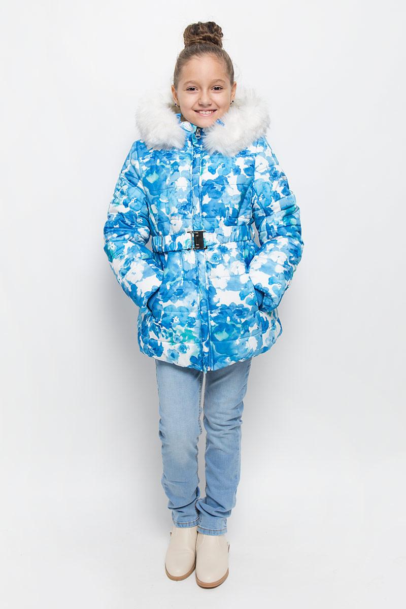 Куртка64354_BOG_вар.1Куртка для девочки Boom!, изготовленная из полиэстера, станет стильным дополнением к детскому гардеробу. Материал приятный на ощупь, позволяет коже дышать, легко стирается, быстро сушится. Подкладка выполнена из полиэстера с флисовыми вставками. В качестве утеплителя используется синтепон (400 г/м2). Модель с капюшоном и длинными рукавами застегивается на пластиковую застежку-молнию с защитой подбородка и дополнительно имеет внутреннюю ветрозащитную планку. Капюшон регулируется при помощи эластичной резинки с стопперами и дополнен искусственным мехом, который отстегивается при помощи молнии. По бокам расположены два прорезных кармана. На талии модель дополнена шлевками для ремня и эластичным поясом. Рукава дополнены трикотажными манжетами. Красивый цвет, модный силуэт обеспечивают куртке прекрасный внешний вид! Теплая, удобная и практичная куртка идеально подойдет юной моднице для прогулок!