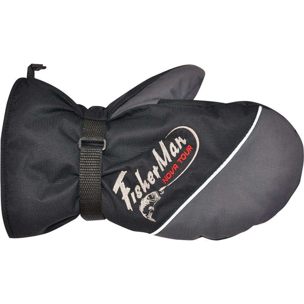 Варежки для рыбалки Nova Tour Тенар, цвет: серый, черный. 95910-961. Размер M (8,5)95910-961Очень теплые варежки для зимней рыбалки.