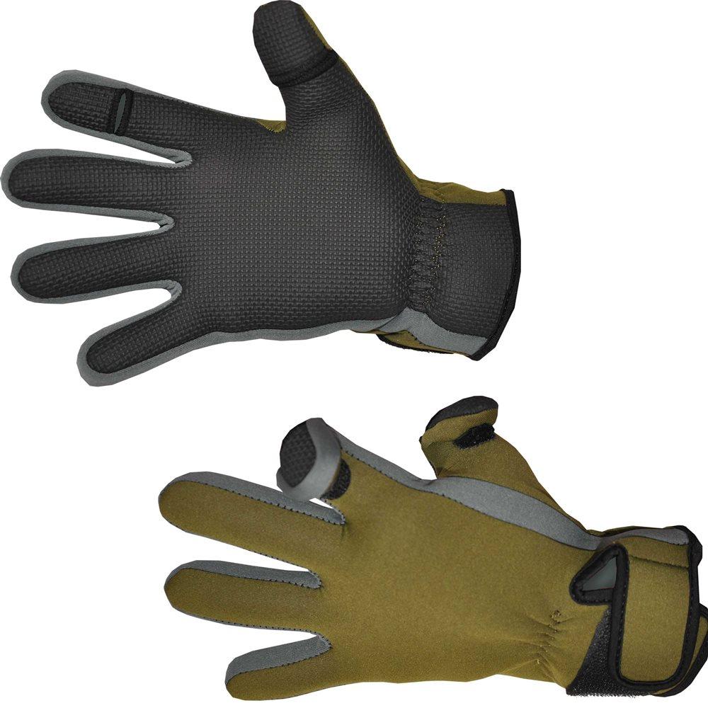 Перчатки для рыбалки Nova Tour Грэб, цвет: хаки. 96-530. Размер M (8,5)96-530Комфортная рыбалка в ветер, дождь и даже не сильный мороз - это просто! С перчатками от Nova Tour Грэб вы сможете наслаждаться рыбалкой в любую погоду.Изготовленные из плотного и прочного к разрывам неопрена, эти перчатки надежно предохраняют руки рыболова от влаги, не позволяя ей просочиться сквозь губчатый материал. С внутренней стороны, на ладони, имеется рифленая прорезиненная накладка, которая, усиливает конструкцию на предмет водонепроницаемости, значительно повышает трение. То есть любой захват в такой перчатке получается надежным и крепким, неважно, держит рыболов в руках спиннинг или поднимает склизкую рыбу.Также на этихперчатках имеются плотные манжеты, обеспечивающие максимально близкое к коже прилегание, благодаря утягивающей застежке на липучке. На пальцах перчаток продуманы откидывающиеся клапаны, обнажающие большой и указательный пальцы. Соответственно, все тонкие манипуляции с оснасткой значительно упрощаются, ведь чувствительность кончиков пальцев значительно выше. Клапаны надежно крепятся при помощи липучек на тыльной стороне перчаток.