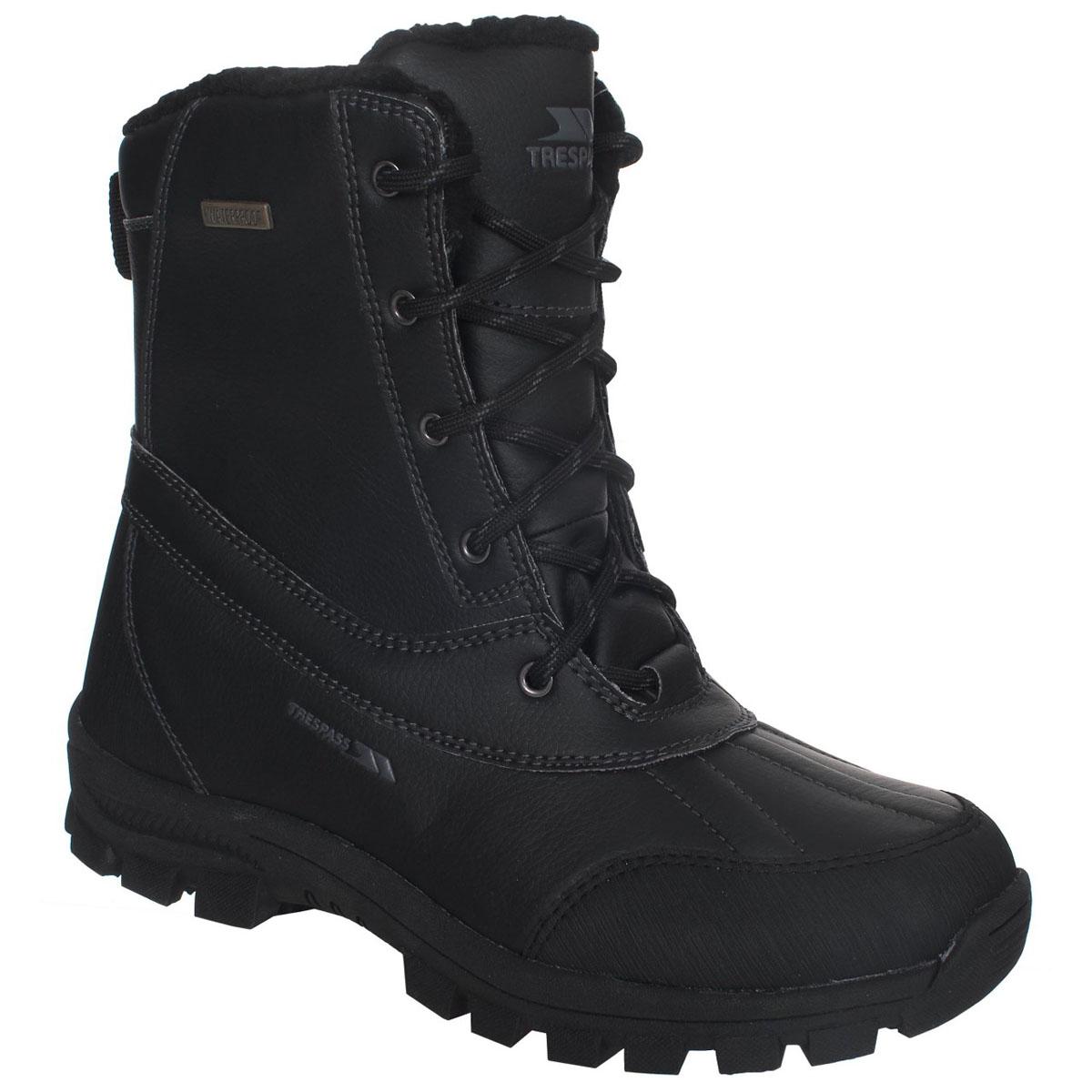 Ботинки трекинговые мужские Trespass Hikten, цвет: черный. MAFOBOJ20001. Размер 41MAFOBOJ20001Современные трекинговые ботинки Hikten от Trespass выполнены из водонепроницаемого полиуретана. Подкладка из флиса и стелька из текстиля не дадут ногам замерзнуть. Шнуровка надежно зафиксирует модель на ноге. Подошва дополнена рифлением. Ботинки прекрасно подойдут для пеших походов по пересеченной местности.