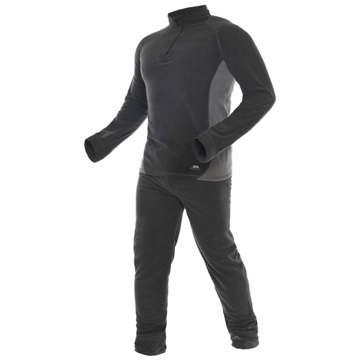 Термобелье комплект (брюки и кофта)UABLSEF20001Комплект термобелья Trespass Thriller изготовлен из полиэстера и дополнен короткой молнией. Он обеспечивает отвод лишней влаги, сохраняет тело сухим. Отлично подходит для занятия спортом.