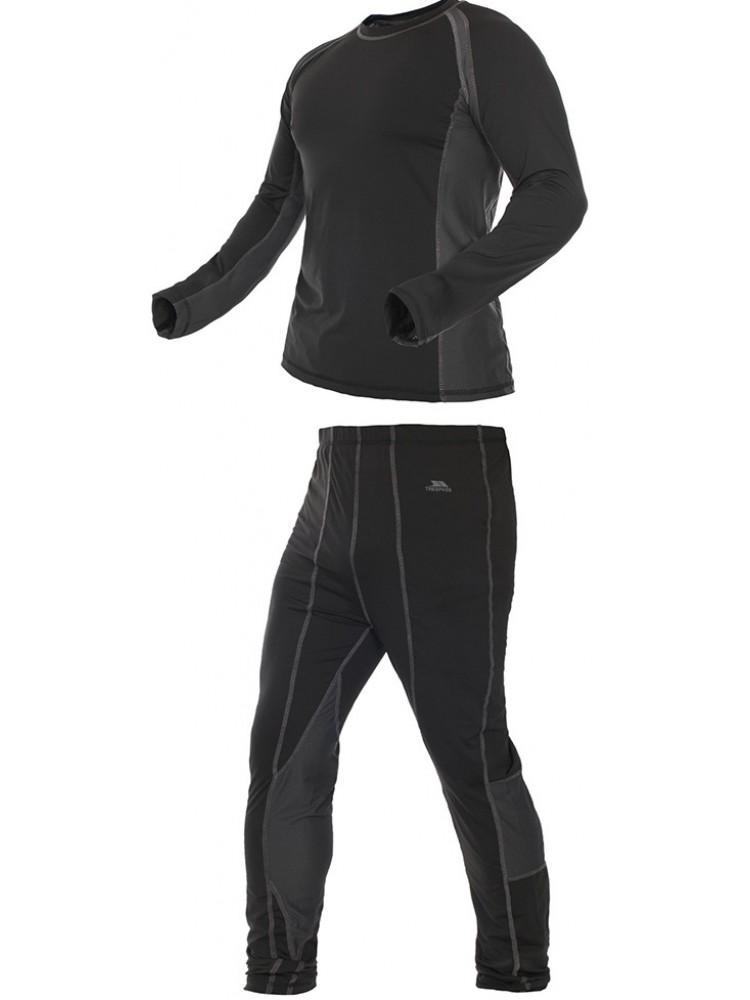 Термобелье комплект (брюки и кофта)MABLSEG20001Мужской комплект термобелья Trespass Vigor изготовлен из полиэстера с добавлением эластана. Он обеспечивает отвод лишней влаги, сохраняет тело сухим. Отлично подходит для занятия спортом.