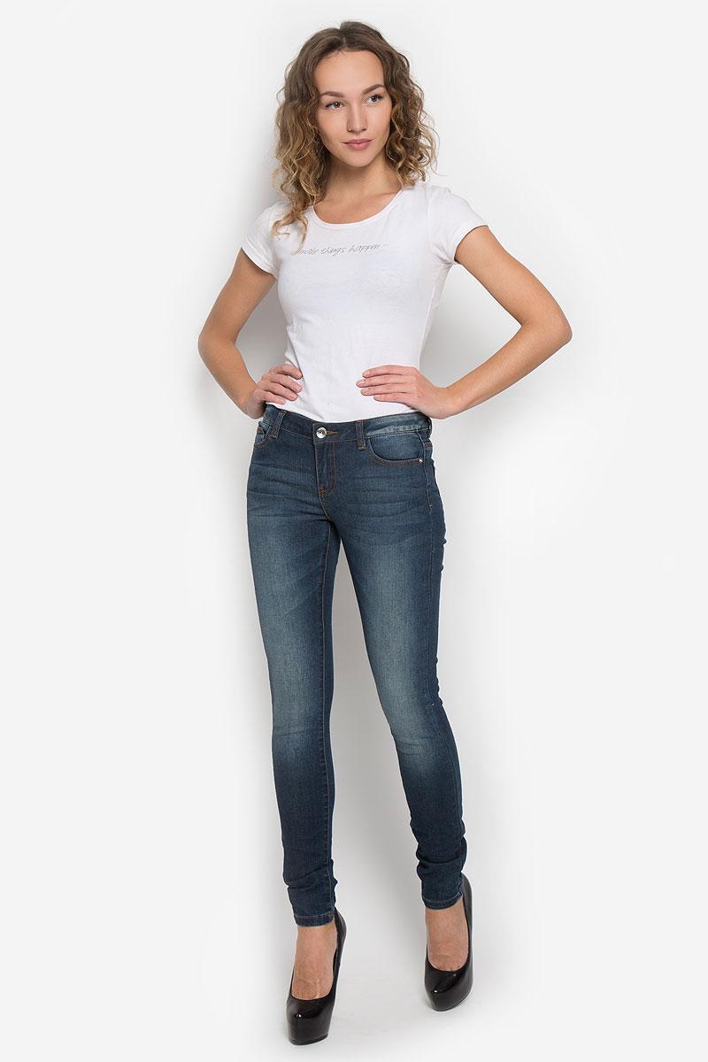 Джинсы10193_537Стильные женские джинсы Broadway созданы специально для того, чтобы подчеркивать достоинства вашей фигуры. Модель-слим со стандартной посадкой станет отличным дополнением к вашему современному образу. Застегиваются джинсы на металлическую пуговицу в поясе и ширинку на застежке-молнии, имеются шлевки для ремня. Спереди модель дополнена двумя втачными карманами и небольшим секретным кармашком, а сзади - двумя накладными карманами. Джинсы оформлены эффектом потертости и перманентными складками. Эти модные и в тоже время комфортные джинсы послужат отличным дополнением к вашему гардеробу.