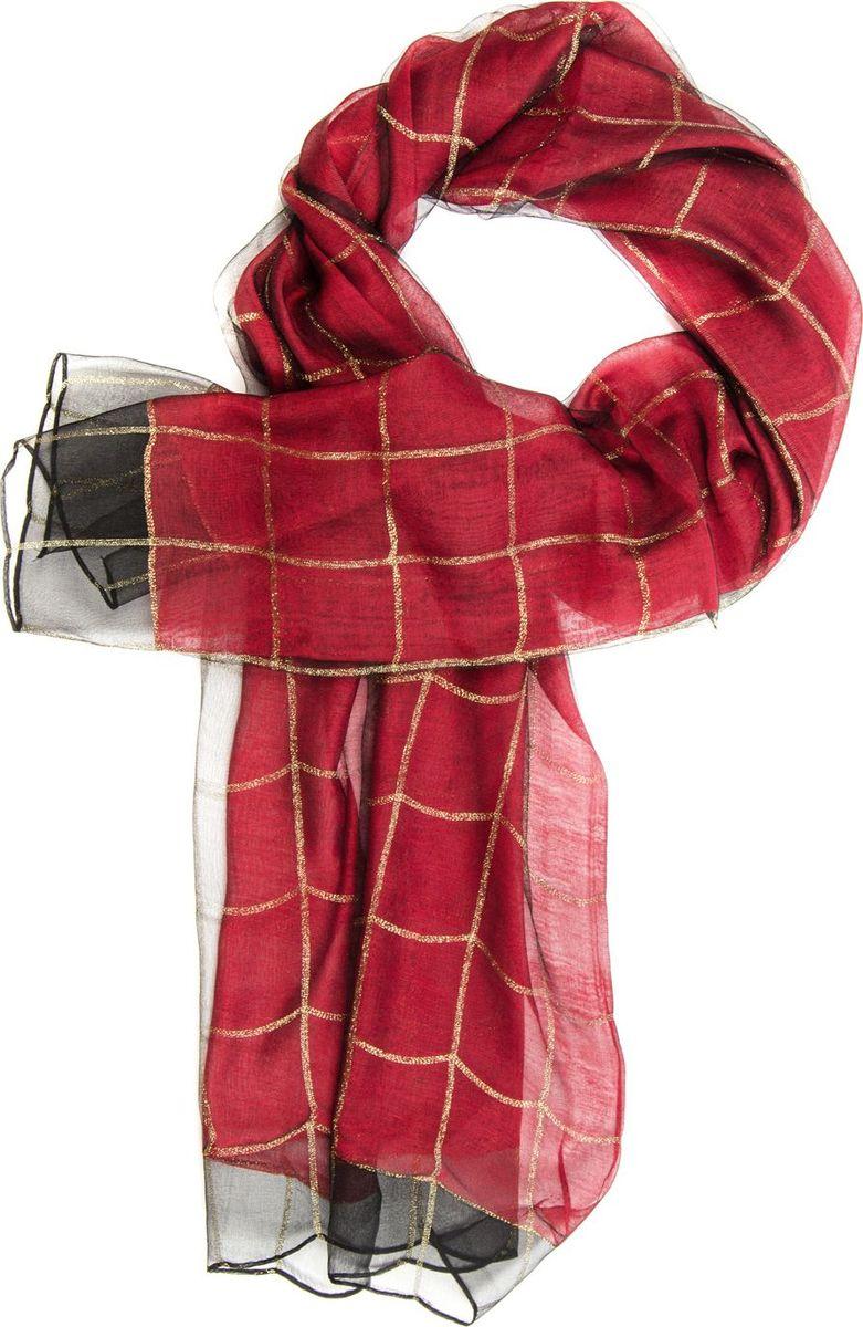 Палантин Laccom, цвет: красный. 3101. Размер 190 см х 70 см3101CПалантин от Laccom, выполненный из высококачественного материала, приятный на ощупь и подойдет к любому стилю. Палантин декорирован принтом в крупную клетку.