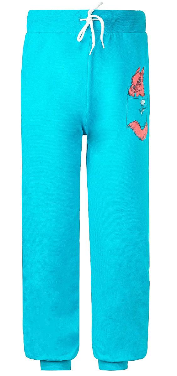 Брюки спортивныеWJJ26038M-28Стильные спортивные брюки M&D для девочки станут отличным дополнением к гардеробу вашего ребенка. Изготовленные из хлопка с небольшим дополнением лайкры, они мягкие и приятные на ощупь. Брюки на талии имеют широкую эластичную резинку со шнурком. По бокам расположены два втачных кармана. Нижняя часть штанин дополнена широкими трикотажными манжетами. Оформлена модель принтом с изображением белочки.