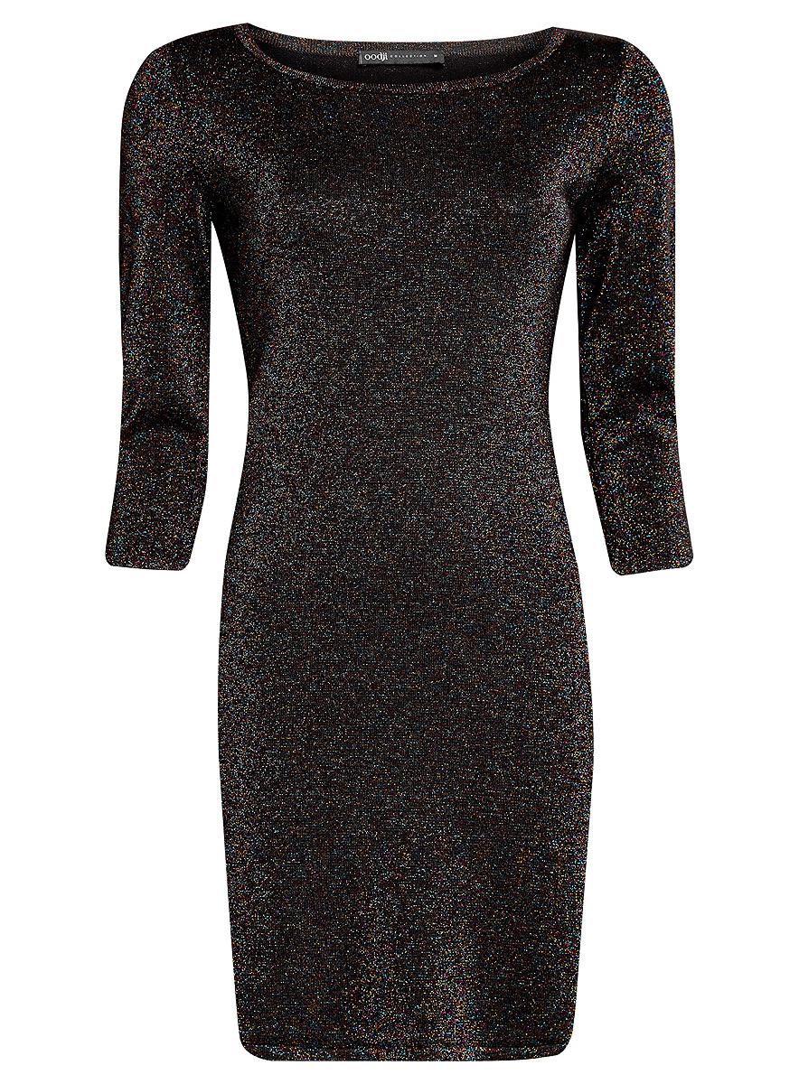 Платье73912219/45965/2900XМодное платье oodji Collection станет отличным дополнением к вашему гардеробу. Модель выполнена из качественного комбинированного материала с добавлением блестящего люрекса. Платье-миди с круглым вырезом горловины и рукавами длинной 3/4 выполнено в лаконичном дизайне.