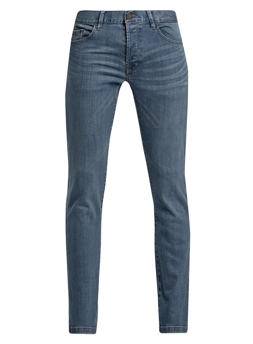 Джинсы6B120022M/39225N/7500WСтильные мужские джинсы oodji Basic изготовлены из хлопка с добавлением полиуретана. Джинсы-слим средней посадки застегиваются на пуговицы. На поясе имеются шлевки для ремня. Спереди модель дополнена двумя втачными карманами и одним небольшим накладным кармашком, а сзади - двумя накладными карманами. Модель оформлена эффектом потертости и перманентными складками.