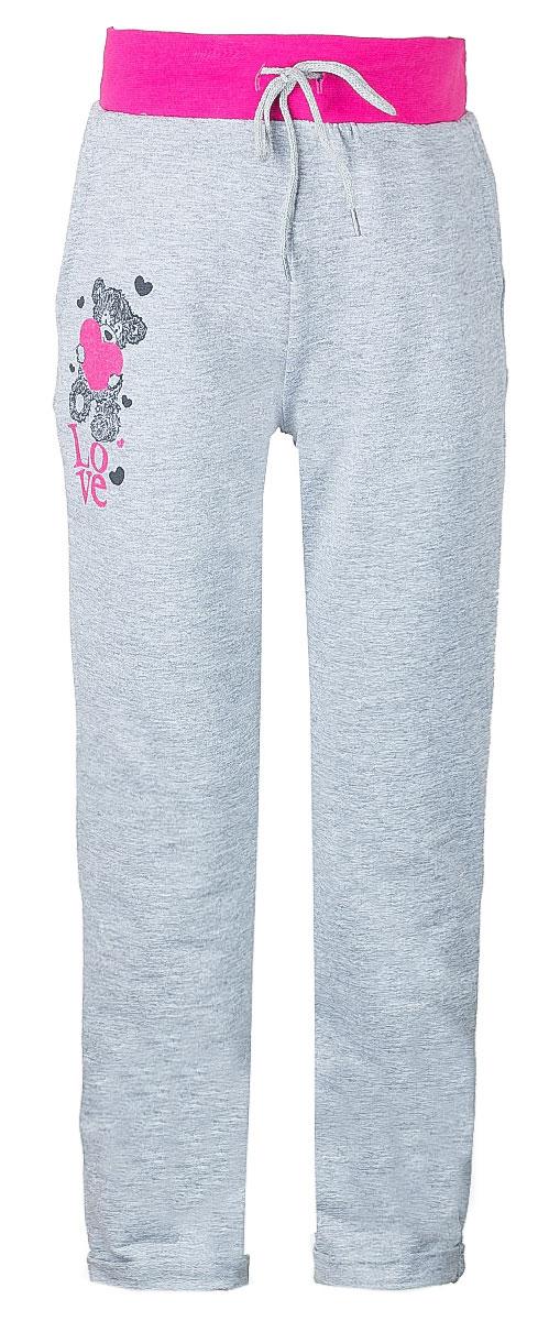 Брюки спортивныеWJJ26035M-82Спортивные брюки для девочки выполнены из эластичного хлопка. Брюки на талии имеют широкую эластичную резинку, благодаря чему, они не сдавливают живот ребенка и не сползают. Объем талии регулируется с помощью шнурка. Спереди предусмотрены два втачных кармашка. Низ брючин дополнен декоративными отворотами