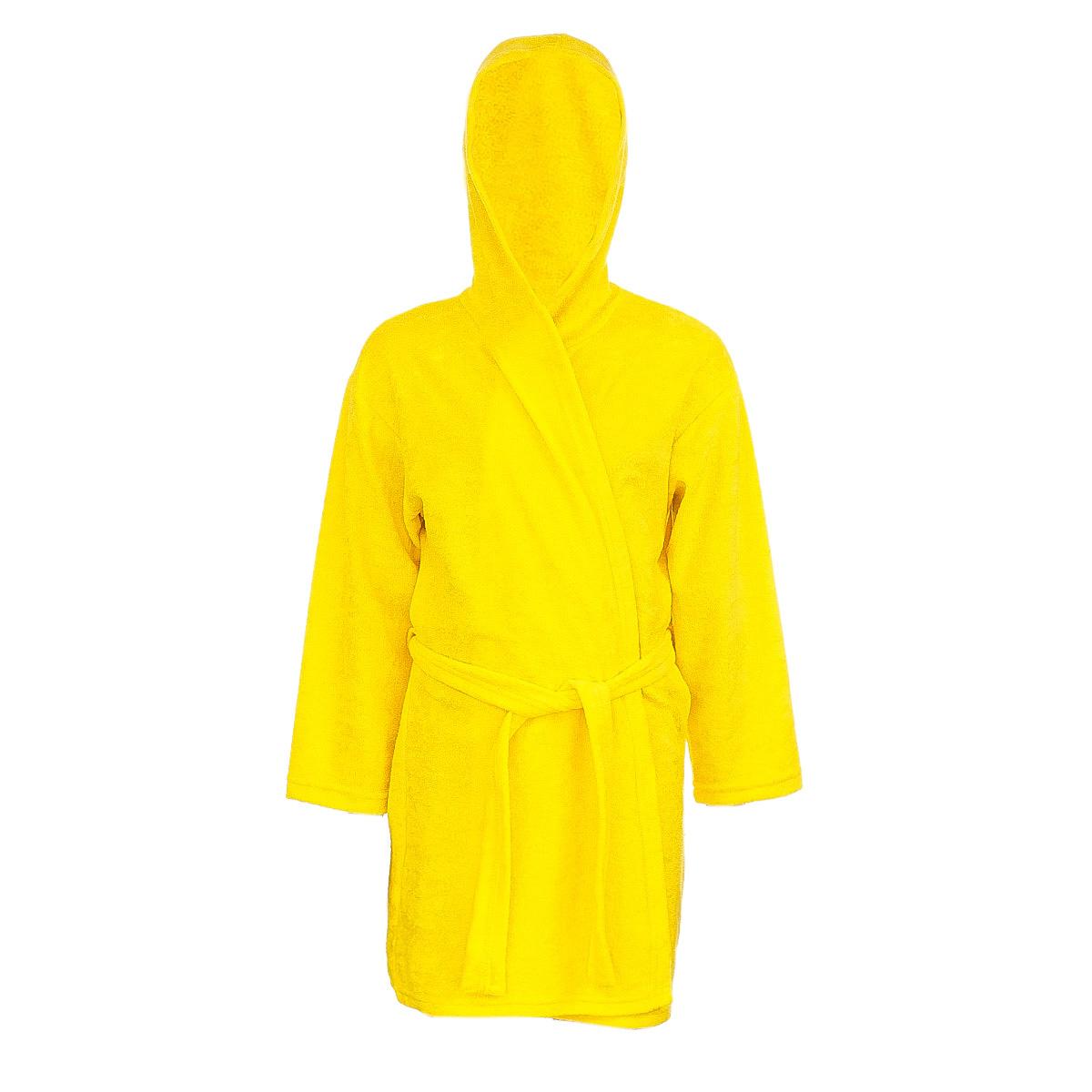 ХалатХ70510Мягкий и пушистый халат от фирмы M&D выполнен из хлопка с добавлением полиэстера, приятен к телу и износоустойчив. Халат можно носить по дому или надевать выходя из ванной. Ткань хорошо впитывает влагу и быстро сохнет. Модель с капюшоном и длинными рукавами оснащена шлёвками и поясом. Изделие понравится ребенку, подарит ему тепло, комфорт и уют.