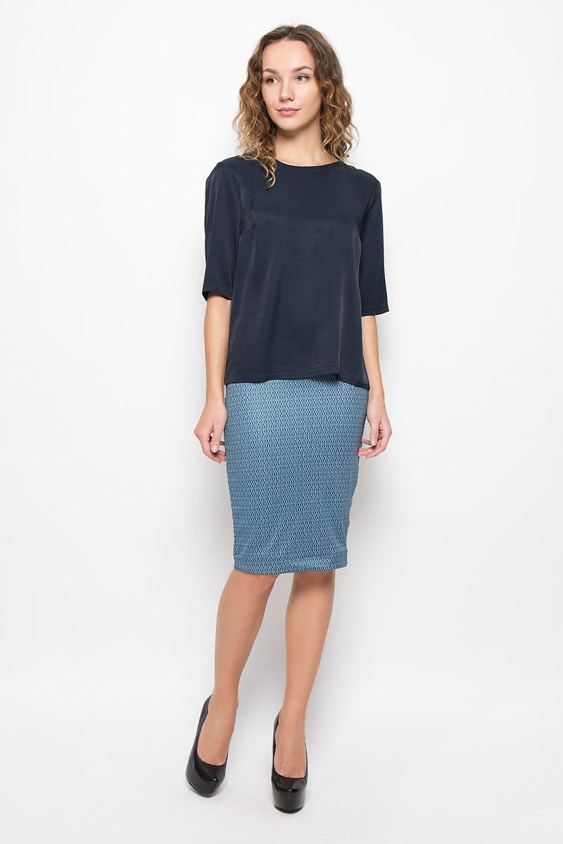ЮбкаMX3025223_WM_SKR_008_783Модная юбка Mexx, выполненная из полиэстера с добавлением эластана, оформлена оригинальным принтом. Юбка-карандаш имеет эластичную резинку на талии. Модель не имеет застежек.