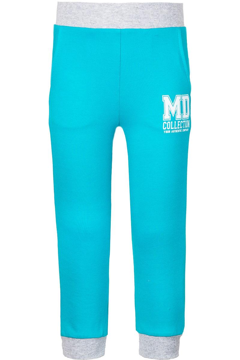 Брюки спортивныеWJJ26061M-28Спортивные брюки для девочки M&D изготовлены из эластичного хлопка. Изнаночная сторона изделия с небольшими петельками. Брюки на поясе имеют широкую резинку. Низ брючин дополнен трикотажными манжетами. Спереди предусмотрены два втачных кармана. Модель оформлена принтовой надписью.