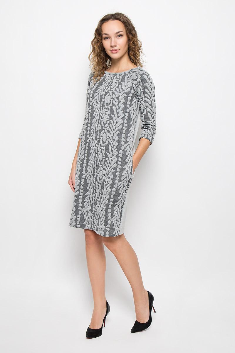 ПлатьеMX3026211_WM_DRS_009_162Стильное платье Mexx выполнено из высококачественного комбинированного материала. Модель средней длины с круглым вырезом горловины и рукавами-реглан спереди выполнено из фактурного приятного материала. Платье на спинке имеет застежку молнию, по бокам оно дополнено двумя прорезными карманами. Вырез горловины дополнен трикотажной резинкой.