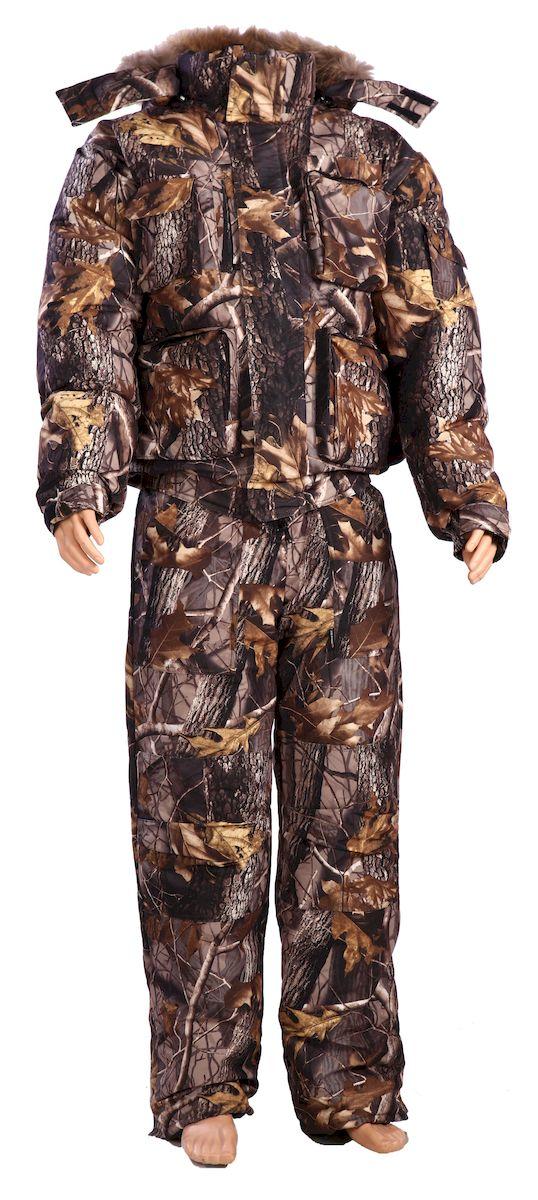 Костюм рыболовный4315Костюм для холодного времени года из ворсовой, не шуршащей мембранной ткани состоит из куртки и полукомбинезона. - куртка с застежкой на молнию, закрытую ветрозащитной планкой на липучках; - комбинированный флисовый воротник-стойка; - капюшон пристегивается на молнию, по краю капюшона стяжка на резиновый шнур с фиксаторами; - капюшон со съемной опушкой из натурального меха; - рукава на манжетах с резинкой; - двухзамковая молния; - по низу подкладки расположены защитные юбочки с резиновой тесьмой; - низки брюк со шлицами и с вставками на липучке для удобства; - на поясе полукомбинезона удобные широкие шлевки под ремень; - количество карманов - 13.