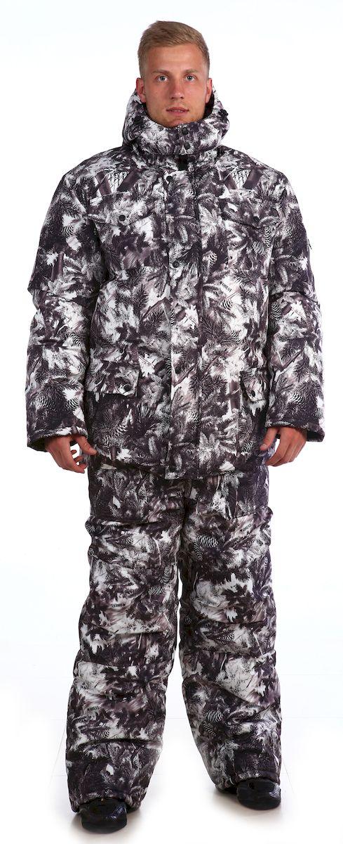 Костюм рыболовный мужской Skanson Кобра, цвет: белый, серый. 336. Размер 60/62, 182-188 см336Утепленный костюм из ветро-влагозащитной ткани незаменим для охоты, рыбалки или отдыха на природе в холодное время года, состоит из куртки и полукомбинезона. - куртка с удобными накладными карманами; - застежка на молнию и кнопки; - высокий воротник-стойка; - низ куртки фигурный, на подкладке имеется ветрозащитная юбка с резинкой; - съемный капюшон удобной формы регулируется резинкой с фиксаторами; - полукомбинезон с объемными карманами, с двухзамковой молнией, с усиленными наколенниками;- низ брюк со шлицами и с вставками на липучке для удобства. - на поясе полукомбинезона имеются удобные широкие шлевки под ремень;- по низу подкладки полукомбинезона расположены защитные юбочки с эластичной тесьмой;- количество карманов - 8